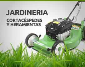 Cortacéspedes y herramientas para jardinería